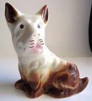 Vintage Scottish Terrier Scottie Dog Scotty Ceramic Planter Figurine Desk Caddy