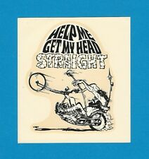 "VINTAGE ORIGINAL 1967 ED ROTH ""HELP ME GET MY HEAD STRAIGHT"" WATER DECAL ART NOS"