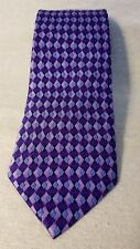 Non-Branded Boy's New Purple 100% Silk Neck Tie