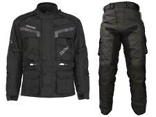 Tuta completo da per moto giacca e pantaloni anti acqua e pioggia con protezioni