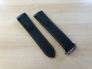 Omega Seamaster 20-22MM Replacement Rubber Curved End Watch Strap Band w/ Clasp