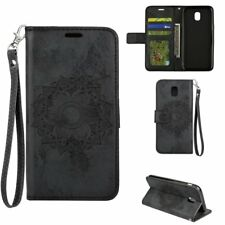Mandala Embossed Leather Flip Stand Card Wallet Case Cover For Various Phone