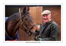 RED RUM GINGER MCCAIN HORSE RACING  A4 PRINT PHOTO GRAND NATIONAL CHELTENHAM