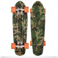 Skate Completo Globe BANTAM Gráfico 24 Camo Orange Skateboard Cruiser Nuevo