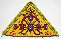 Indian Triangle Crafted Sewing Banjara Beaded Patch Embellished Hand Patch AP-12
