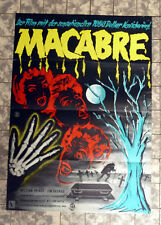 MACABRE * German 1-Sheet FILMPOSTER 23x33inch ´58 WILLIAM CASTLE Horror
