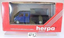 Herpa 1/87 042871 Mercedes Benz Sprinter camiones camastro neutral azul OVP #6072
