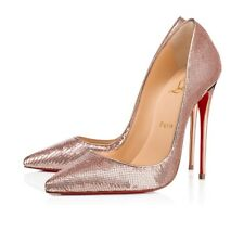 NIB Christian Louboutin So Kate 120 Nude Pink Gold Sirene Sequin Heel Pump 39.5