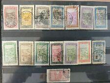 MADAGASCAR- 1908 - TRANSPORT DEFINITIVES - 15 stamps  - USED