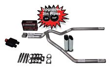 "Ford F150 Truck 04-14 3"" Dual Exhaust Kit Flowmaster Super 10 Slash Tips"