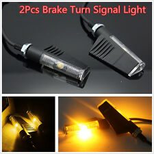2pcs Universal Motorcycle LED Blinker Brake Turn Signal Indicators Amber Lights