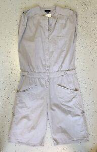 ❤️ WITCHERY Summer Cotton Sleeveless Romper Oat Size 8 Buy7=FreePost L870