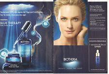 Publicité Advertising 2013  ( Double page )  BIOTHERM crème anti-age
