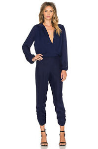 NWT $330 Parker October Combo Navy Blue Jumpsuit size X-SMALL XS