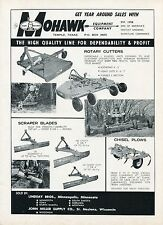 1971 Dealer Print Ad of Mohawk Tractor Scraper Blades Rotary Cutters & Plows