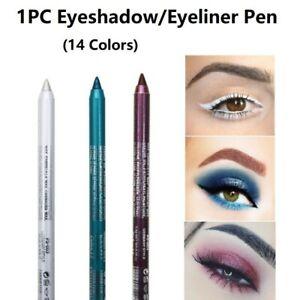 14 Color Long Lasting Waterproof Eyeliner Liquid Pen Eye Shadow Pencil Makeup US