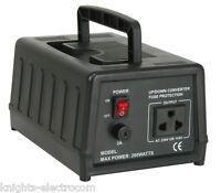 200W UK to US Stepdown Voltage Converter / Transformer  240V to 110V / 120V