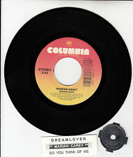 "MARIAH CAREY  Dreamlover & Do You Think Of Me 7"" 45 rpm vinyl record RARE!"