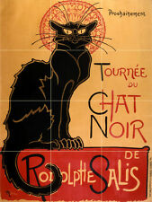 Art Deco Cat Chat Noir Ceramic Mural Backsplash Bath Tile #2291