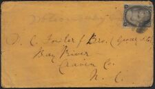 US 1867 ISSUE Sc #87 E GRILL (14x16) TIED ON CVR TO BAY