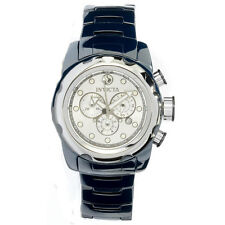 INVICTA CHRONOGRAPH DATE BLUE CERAMIC STAINLESS STEEL MEN'S WATCH 0316 NEW