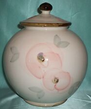 ~ Robert Gordon Pottery ~ Very Large Canister Jar ~ Hand Painted Collectable ~