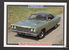 1969 PLYMOUTH HEMI ROAD RUNNER 426 Muscle Car Photo 1992 SPEC INFO TRADING CARD