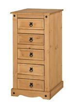 Corona Chest of Drawers 5 Drawer Narrow Mexican Solid Pine by Mercers Furniture®