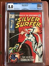 Silver Surfer 7 CGC 8.0 OW/W Buscema Square Bound GLOSSY SWEET