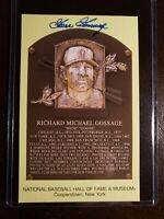 Goose Gossage Signed HOF Plaque Autograph Card, Signed IP Yankees Cubs Auto