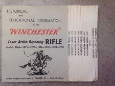 Winchester Lever Action Rifle Historical Info Booklet