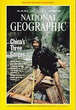 National Geographic Magazine Sep. 1997, China's 3 Gorges Dble Map Supplement
