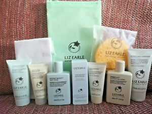 Liz Earle TEN Piece Travel Gift Set Cleanser, Tonic, Moisturiser, Exfoliator ++