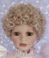 Tallians HEATHER #2 Light Blonde Full Cap Doll Wig Size 14 Curly