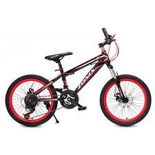 MTB Zonix 21 velocità Nero rosso 20 Pollici,RH 30 cm Freno a disco Bici bambino