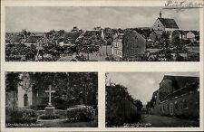 PÜTZCHEN bei Bonn AK 1942 Totale Kreuz Brunnen Karmeliterstrasse Mehrbildkarte