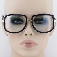 Mens CLASSIC VINTAGE RETRO Aviator Style Clear Lens EYE GLASSES Fashion Frame