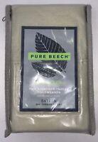 Pure Beech 100 Cotton 2 Standard Queen Sateen 400 Thread Count Pillow Cases Sage