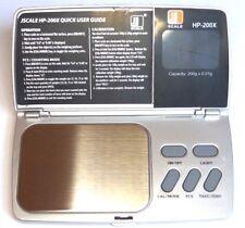 Jennings HP200X Feinwaage 200 / 0,01g Taschenwaage Digitalwaage Goldwaage scale