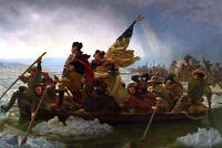 "George Washington crosses the Delaware Art Poster 48x32"" 36x24"" 1776 Print Silk"