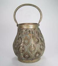 Metal Moroccan Style Candle Lantern w/LED Candle and Multi Function Remote