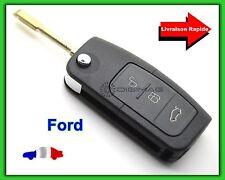 Coque Télécommande Plip Clé Ford 3 Boutons Coffre Focus Fiesta + Lame Vierge