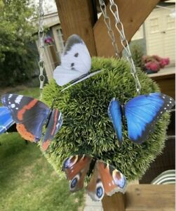 ENGLISH COUNTRY GARDEN BUTTERFLY DECORATIONS ON STICKS - INDOOR - OUTDOOR