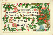A&C Vintage Christmas Greeting Postcard - May Christmas be to You . . .