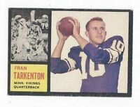 1962 Topps Football Card #90 Fran Tarkenton, Minnesota Vikings VGEX+