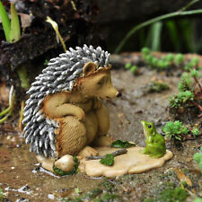 Miniature Garden Sleepy Hedgehog with Frog TO 4279   Fairy Faerie