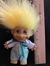 Cute Little Boy Yellow Hair 4 Inch Russ Troll Doll -