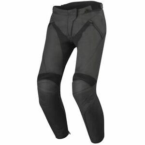 Alpinestars Stella Jagg Ladies Leather Motorcycle Trousers - Black