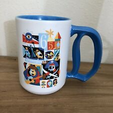 Disney Diamond Celebration Ceramic Coffee Mug White Blue Characters D Handle