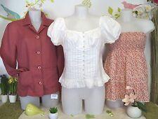 """Lot vêtements occasion femme - Hauts """"Vila-Freda"""", Chemise """"Benetton"""" T : 40/42"""